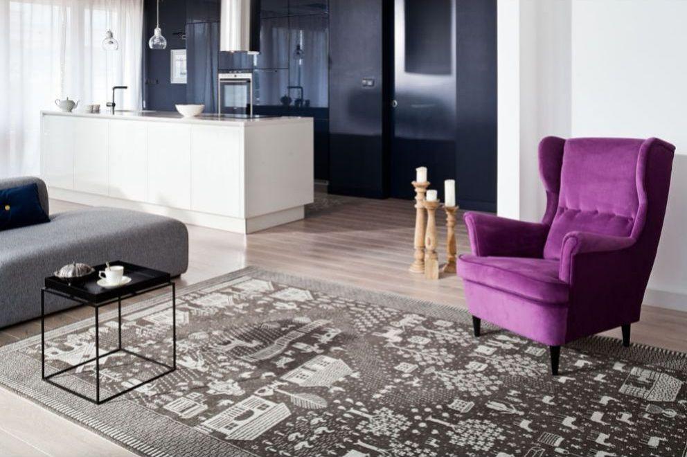 Dobrze dobrany dywan w salonie, dywan agnella